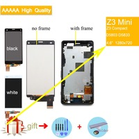 4.6 Original LCD For Sony Xperia Z3 compact D5803 D5833 LCD Display Digitizer Sensor Z3 mini Assembly LCD with Frame Complete