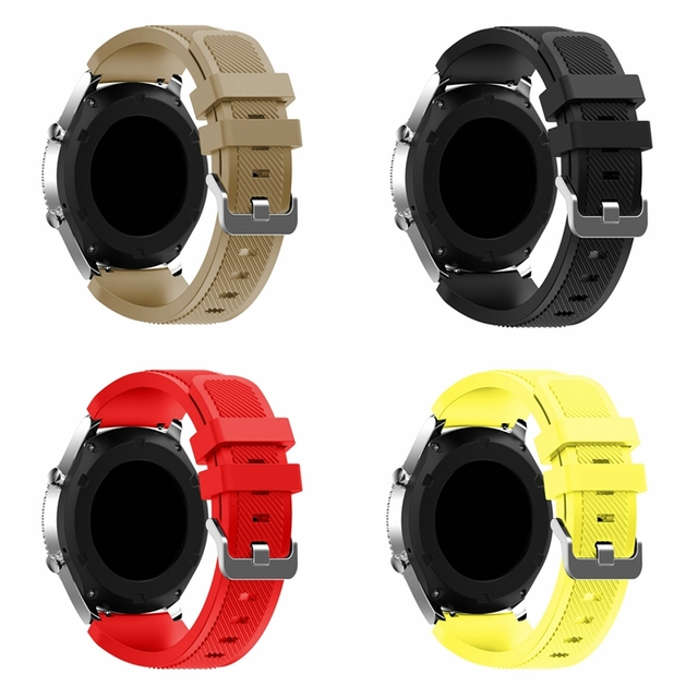 Onthelevel for Samsung gear S3 classic sports silicone belt 22MM waterproof and sweat-proof strap 3