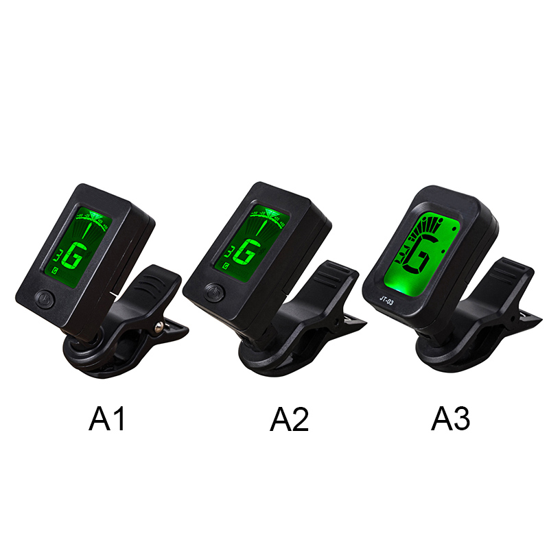mini clip on guitar tuner automatic digital tone tuner for acoustic electric guitar bass. Black Bedroom Furniture Sets. Home Design Ideas