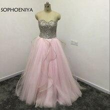 Sophoeniya Off the shoulder Pink Evening dress 2019 Full