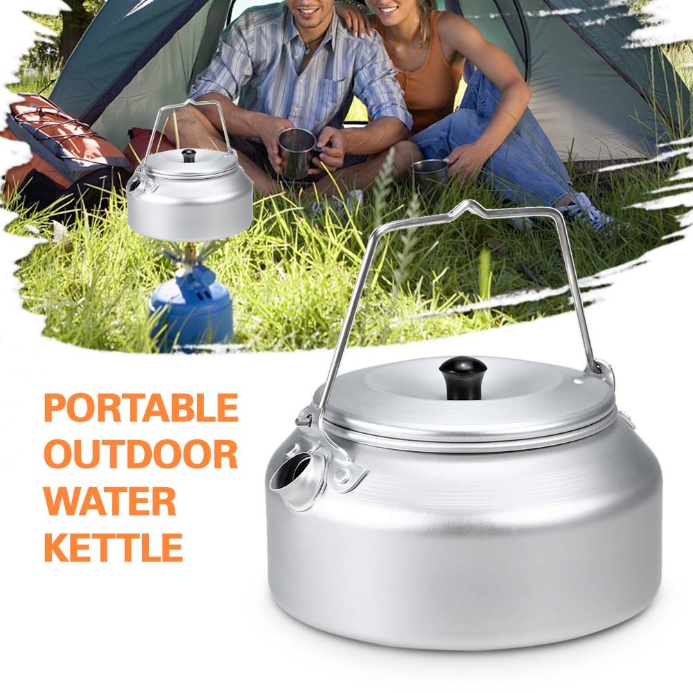 Portable Outdoor Ultralight Aluminum Kettles Camping Water Kettle Coffee Pot Teapot with Filter Tableware for Hiking Picnic