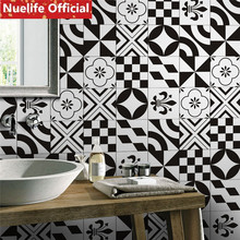 Schwarz Und Weiße Ziegel Muster Fliesen Design Wand Aufkleber Kinder Zimmer  Badezimmer Schlafzimmer Wohnzimmer Shop Wasserdichte