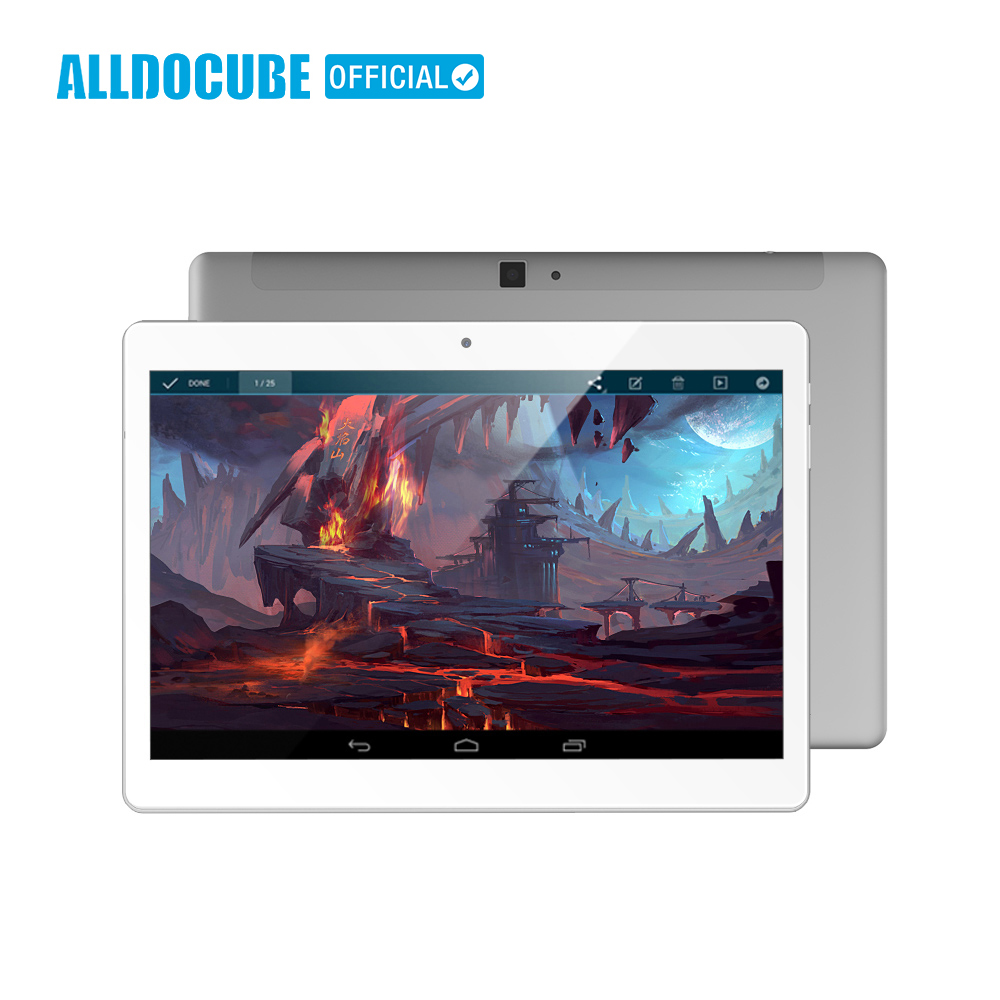ALLDOCUBE 10.1 Inch 2560*1600 IPS 4G Phone Call Tablet PC Android 8.0 MTK X20 Deca core 4GB RAM 64GB ROM GPS WIFI Phablet M5