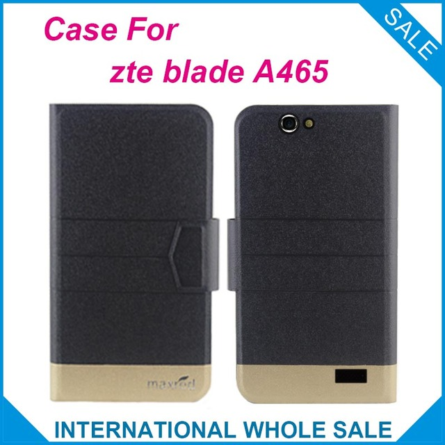 5 Colors Hot! zte blade A465 Case Fashion Business Magnetic clasp Flip Leather Exclusive Case For zte blade A465 Cover