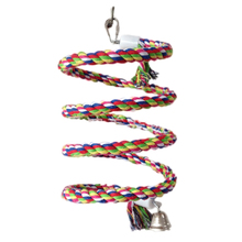 Cotton Spiral Bouncing Perch for Parrots