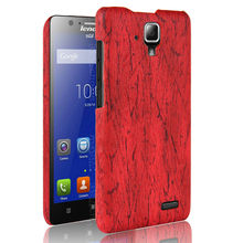 SuliCase Leather Case for Lenovo A 536 A536 A358T Wood Grain Hard Cover PC Frame