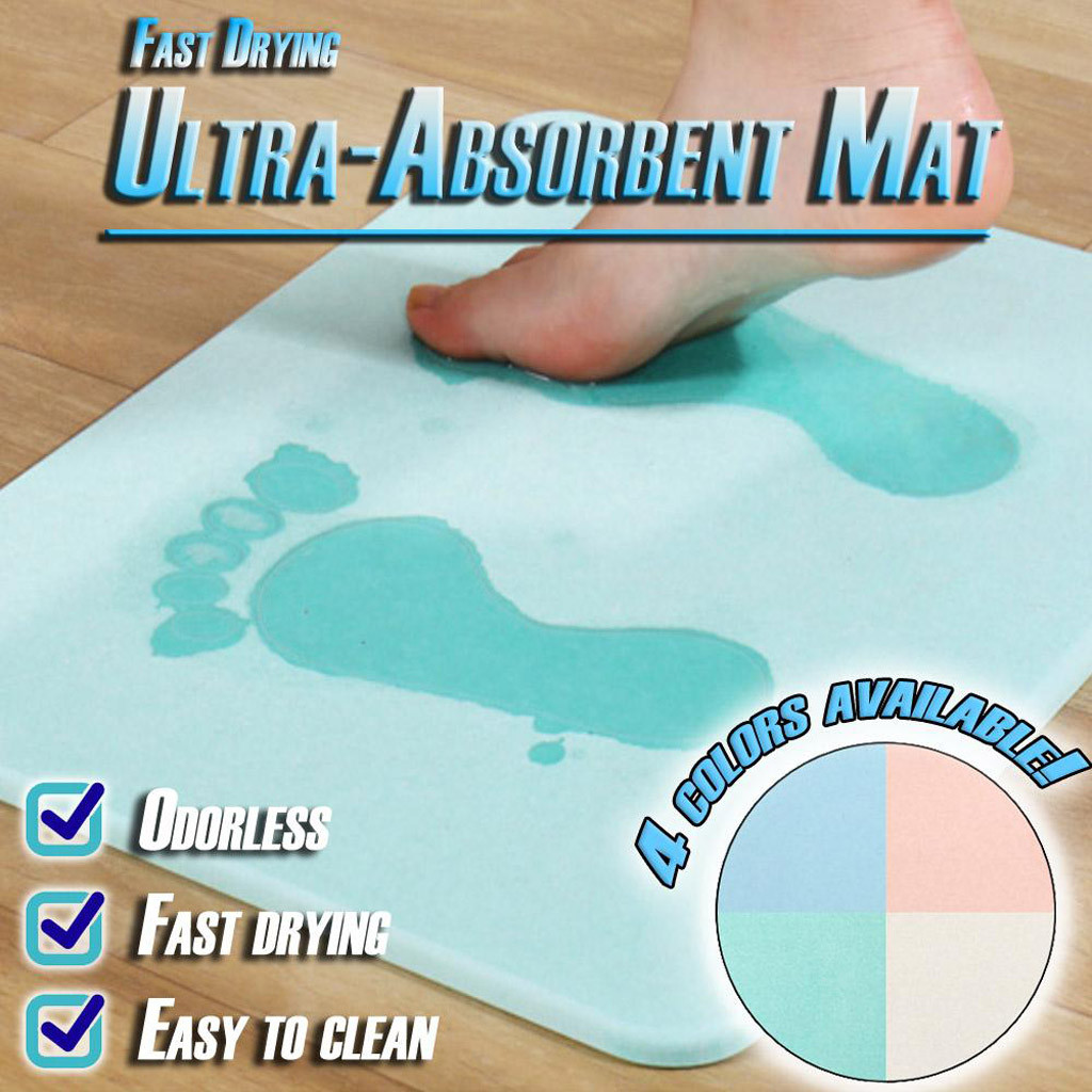 Quick Dry Bathroom Carpet Diatom Mud