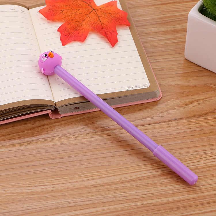 1pcs Kawaii office ballpoint pen Creative cute bird pattern school stationery Supplies Black ink 0.5mm Pen refill