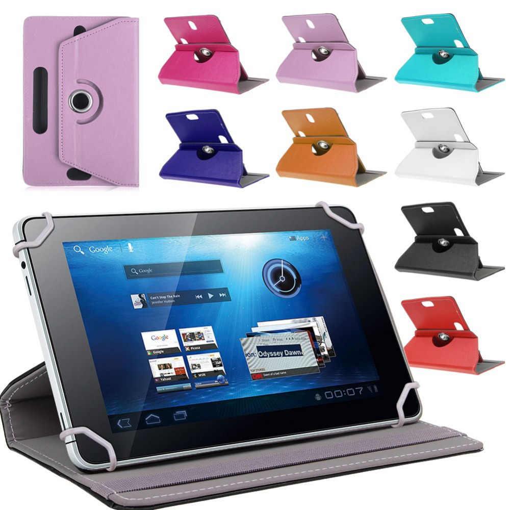 """360 درجة الدورية العالمي غلاف هاتف ألكاتيل Pixi 3 10 10.1 """"بوصة اللوحي PU أغطية جلد + القلم"""