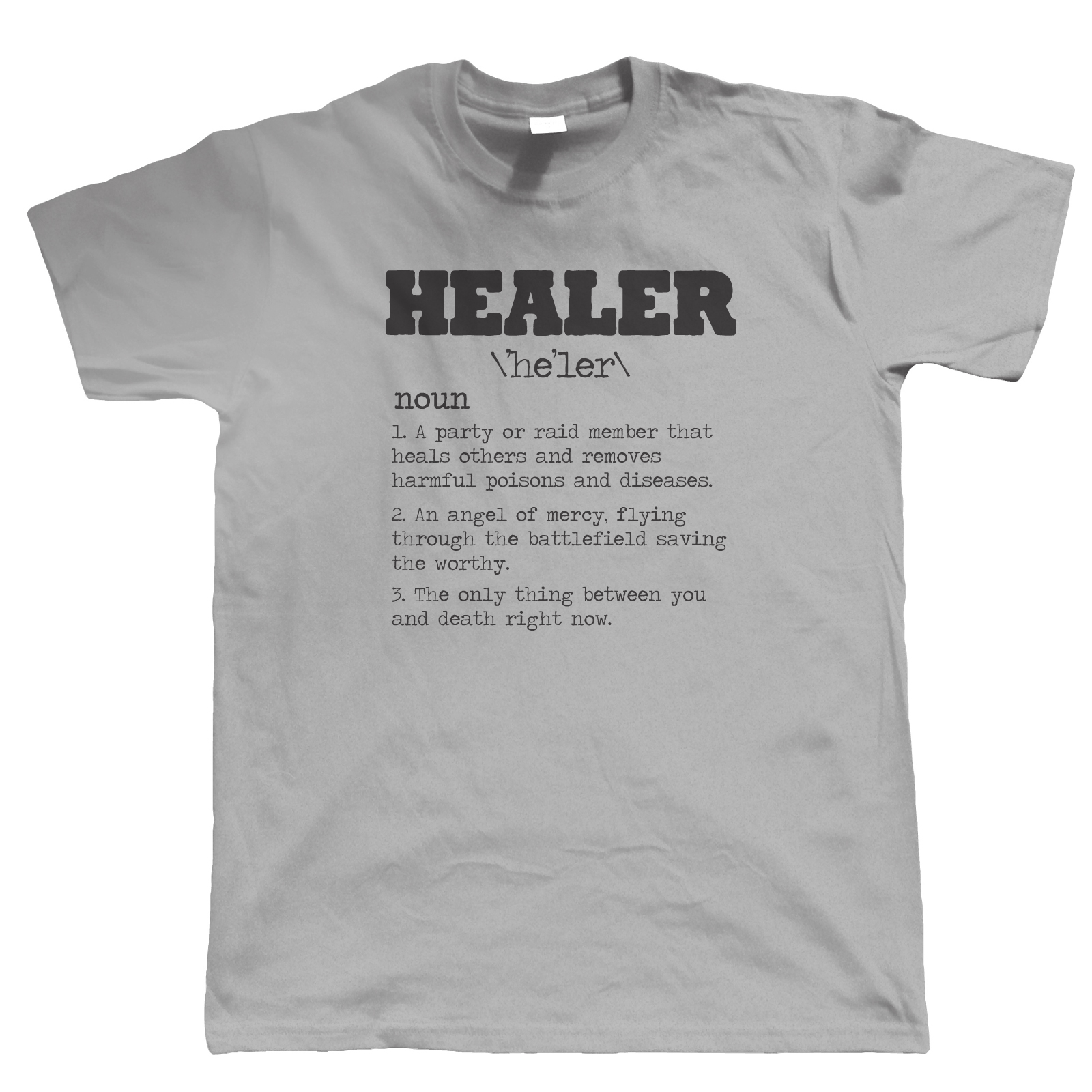 Healer Rpg Gamer T Shirt Video Game Mmorpg Pc Gamer Wow Horde Alliance Rogue Fashion Unique Classic Cotton Men T Shirt image