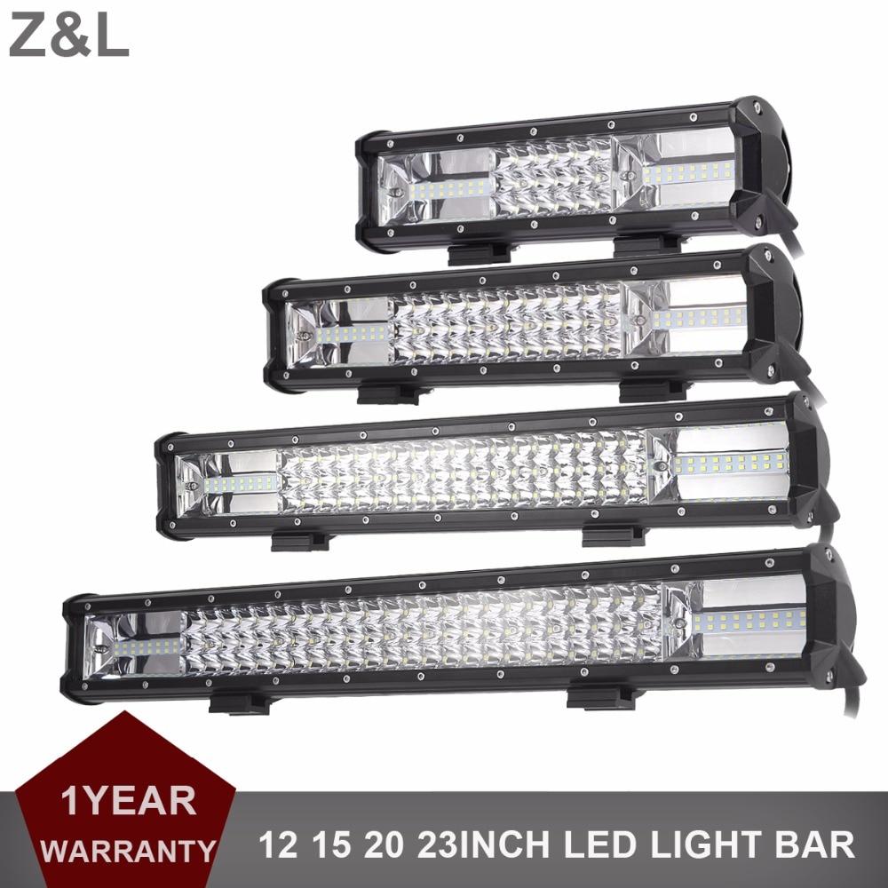 цена на 12 15 20 23 Inch LED Light Bar Offroad Combo Car SUV 4X4 4WD LED Work Light Bar Truck Wagon Pickup Camper Trailer 12V 24V Lamp