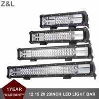 12 15 20 23 Inch LED Light Bar Off Road Car SUV 4X4 4WD Truck Wagon Pickup Camper Trailer Auto 12V 24V RZR Tractor Exterior Lamp