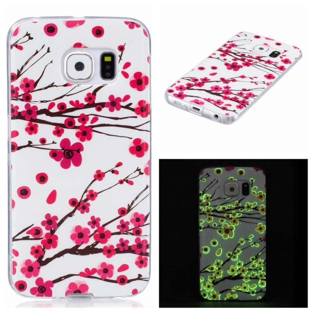 Case Voor Samsung Galaxy S5 Neo S6 S7 Rand S8 Plus Note 8 J3 J5 J7 A3 A5 2015 2016 2017 Cover Soft TPU Lichtgevende Fundas