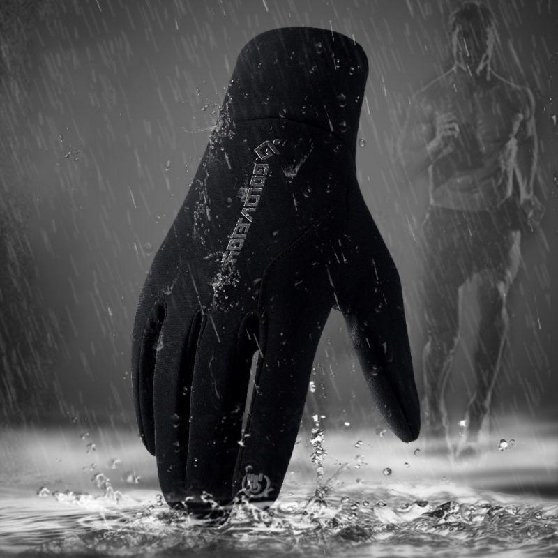 Nero Guanti in Pelle per Uomo Donna Touch Screen Impermeabile Inverno Caldo Guanti Termici Esterno Antivento Freddo Ciclismo Guida Guanti da Equitazione