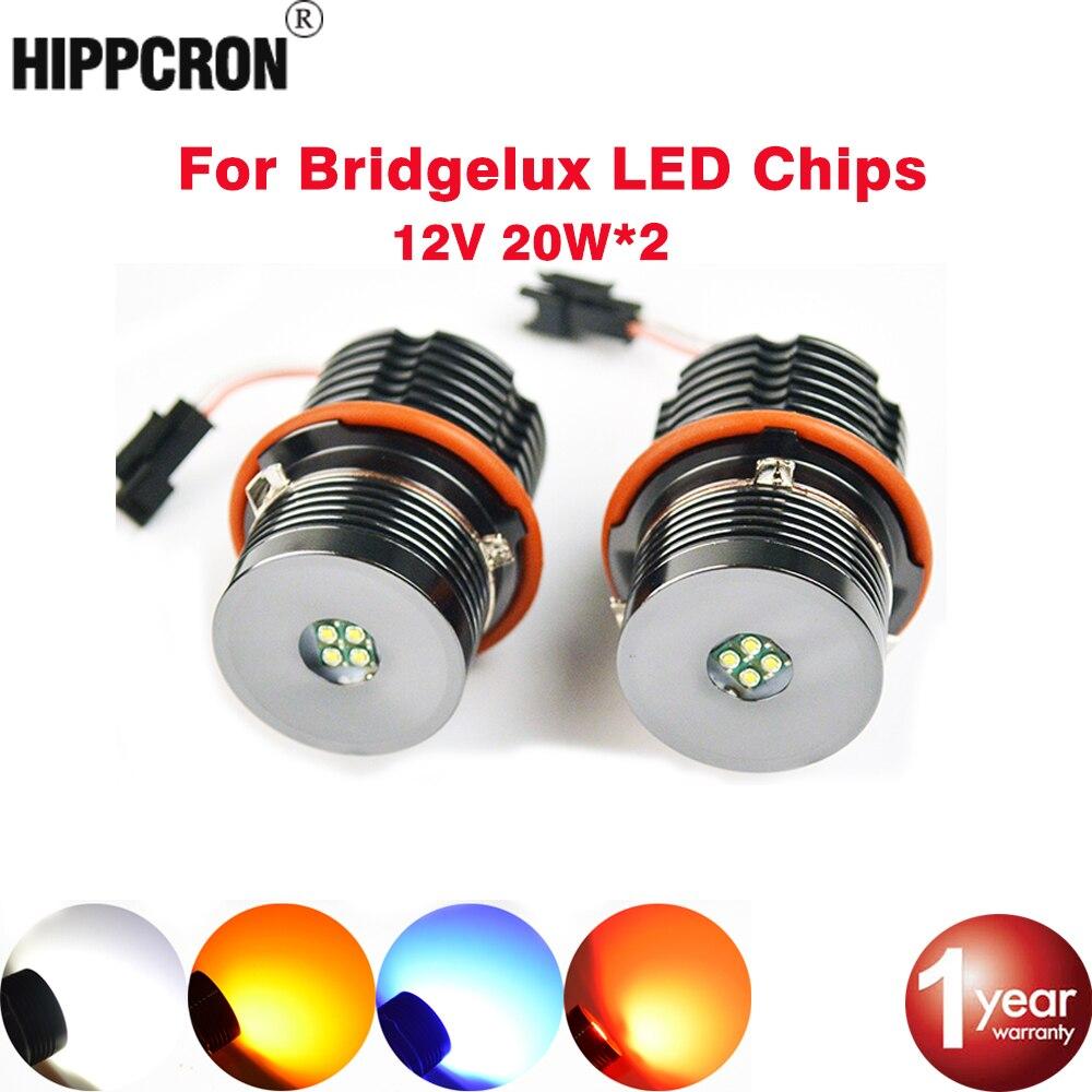 hippcron Angel Eyes for BMW E65 E87 E39 E60 E61 LED Marker 2*20W 40W for Bridgelux LED Chips White/Red/Blue/Yellow цена