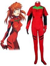 Envío Libre Neon Genesis Evangelion Soryu Asuka Langley EVA-2 Modelo de Producción Meisters Uniforme de Cosplay del Anime