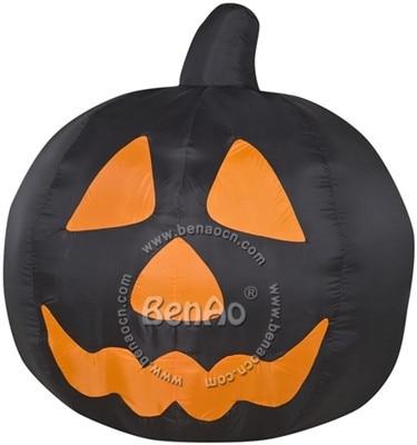 H06 6 м Бесплатная доставка гигант Хэллоуин черные Надувные тыквы с света Хэллоуин костюм косплей одежда