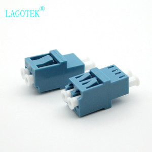 Image 3 - 50PCS LC UPC Duplex  Fiber optic Adapter High low type  LC Optical fiber coupler LC UPC Fiber flange SC connector Free shipping