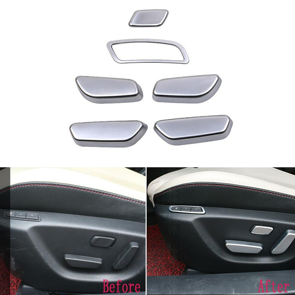 TTCR-II Car auto Stickers cover ABS seat adjustment knob button switch trim lamp frame 4pcs for Mazda 6 Atenza Sedan 2014-2017 vehicle car accessories auto car seat cover back protector for children kick mat mud clean bk