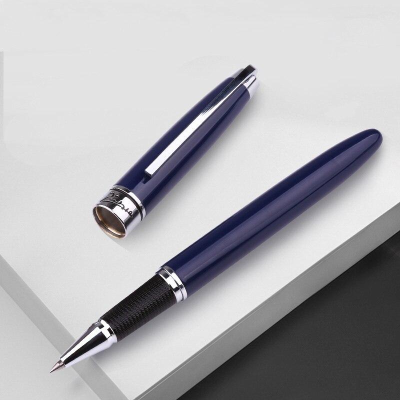 Pimio 912 charme bleu profond et argent Clip signature stylo à bille en métal avec boîte-cadeau originale pour stylos à bille cadeau d'affaires
