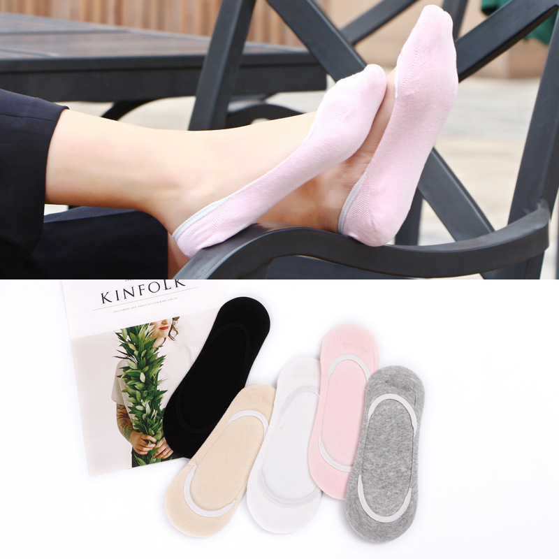 5 пар Для женщин короткие летние шлепки Носки для девочек дамы невидимый носок лодка Обувь для девочек Footsie кожи тонкие модные Low Cut обувь