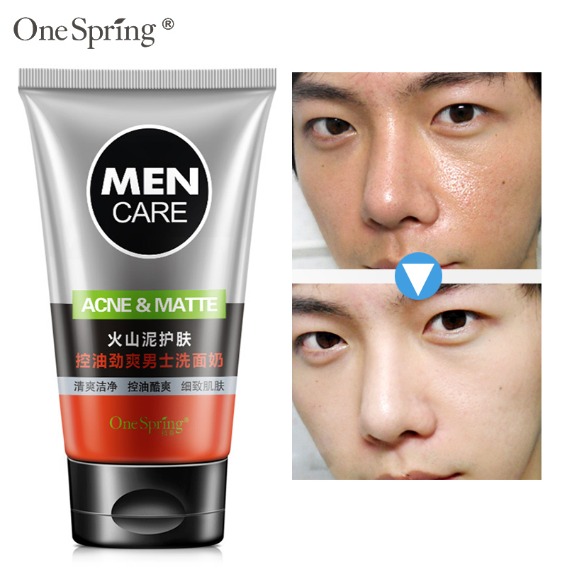 100gFace Washing Men Product Face Cleanser Facial Scrubs Natural Face Wash &Cleanser for Oily and Acne Prone Skin Oil Control