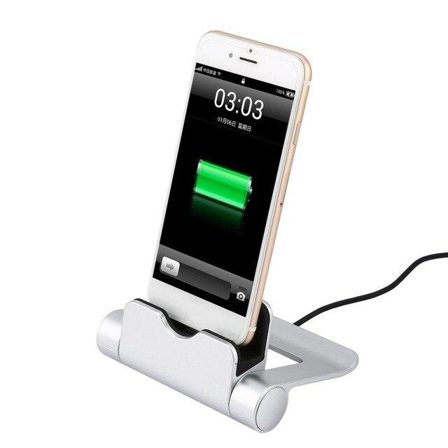 c11619c2c71 WQ26 Cable USB cargador para iphone ipad Android cargador de escritorio  estación de carga de la