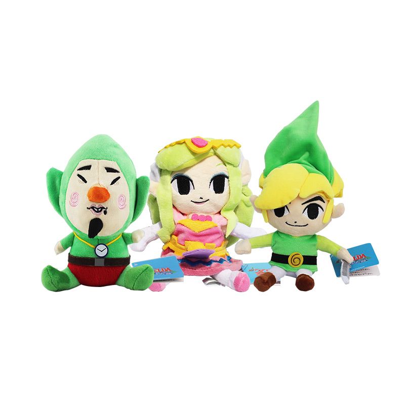 20cm Zelda Plush Toy Princess Cartoon LINK Boy With Sword Plush Toys Stuffed Dolls Gift For Children Kids Gifts