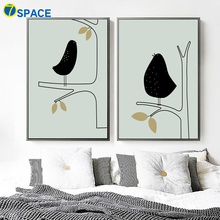 Abstract Bird Tree Wall Art Canvas Painting Nordic Posters And Prints Wall Pictures For Living Room Bedroom Art Print Home Decor nordic bird canvas art prints and posters monochrome canvas painting wall art picture for living room home decor