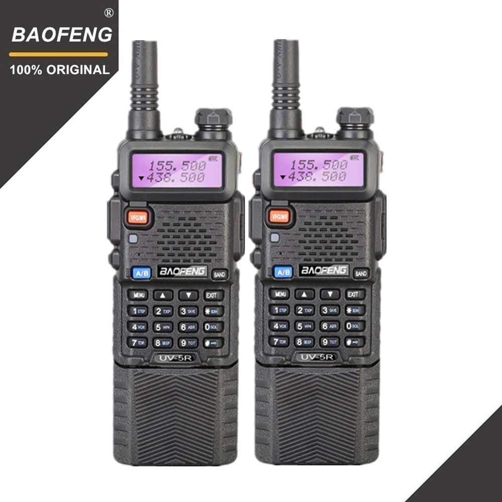 2 pièces Baofeng UV-5R 3800 MAh longue portée talkie-walkie 10KM double bande UHF & VHF UV5R jambon Hf émetteur-récepteur Portable UV 5R Station de Radio