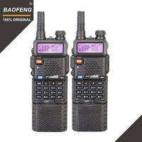2pcs Baofeng UV 5R 3800 MAh Long Range Walkie Talkie 10KM Dual Band UHF&VHF UV5R Ham Hf Transceiver Portable UV 5R Radio Station