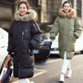 2016 Winter Womens Winter Jackets And Coats Zipper Cotton Thick Loose Plus Size Women Down Long Coat With Hood Casual Army