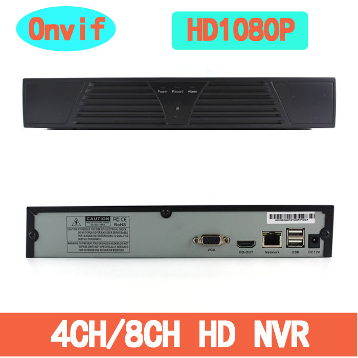ONVIF H 264 CCTV NVR Full HD 1080P 4CH 8CH Network Video Recorder NVR System For