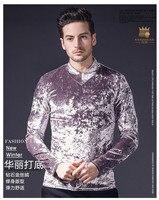 Fanzhuan Free Shipping New Male Fashion Casual Men S Man 2018 Spring Stretch Slim Gold Shirt