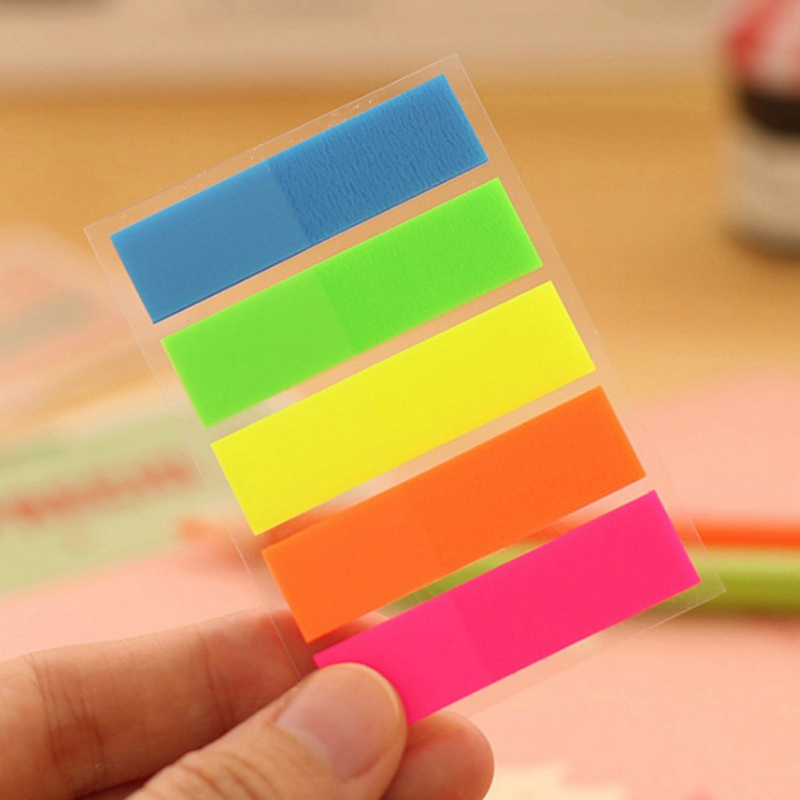 Self Adhesive Fluorescence colour Memo Pad Sticky Note Bookmark Point It Marker Memo Sticker Paper Office School Supplies