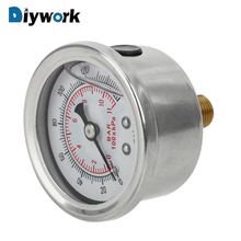 DIYWORK Liquid Oil Press Gauge for Auto Tester Monitoring System Fuel Pressure Gauge Meter Liquid 0-160 psi 1/8 NPT Universal