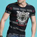 Hot sale 2017 new arrival moda marca clothing camisa do verão t homens Tops de Manga Curta Slim Fit 3D Impressão Tshirt Homme Plus tamanho