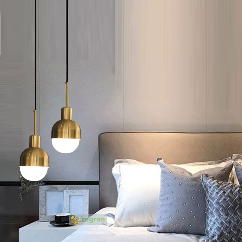 Nordic Bedroom Vintage Lamp Brass Loft Industrial Suspension Luminaire E27 Pendant Light Antique Mini Hanging Lights