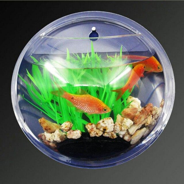 Wall Mounted Aquarium Fish Tank Hanging Bowl Plant Home Decoration Transpa