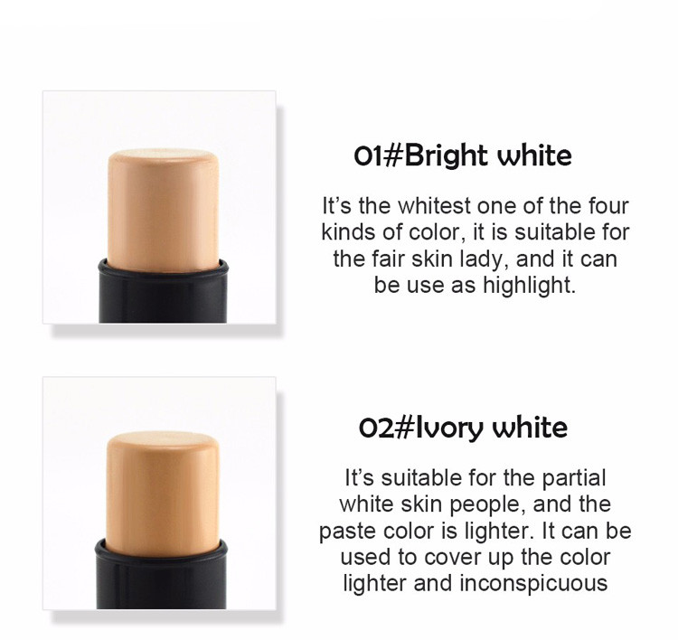 MIXIU Face Makeup Concealer Stick Long-wearing Waterproof Corrector And Brushes Highlighter Cream 4 Colors Concealer Pencil (5)