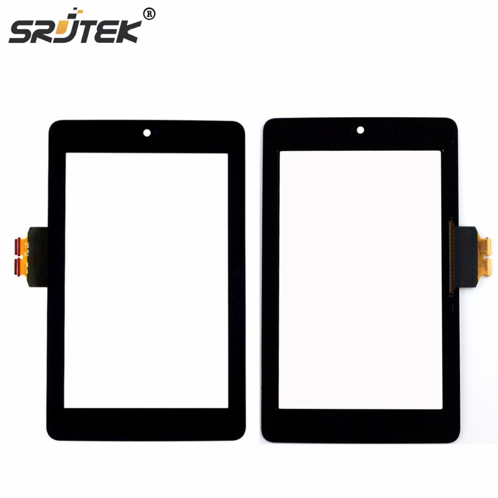 Srjtek 7 For ASUS Google Nexus 7 1st Gen nexus7 2012 ME370 ME370T Touch Screen Tablet Digitizer Glass Replacement Parts Black for asus zenpad c7 0 z170 z170mg z170cg tablet touch screen digitizer glass lcd display assembly parts replacement free shipping