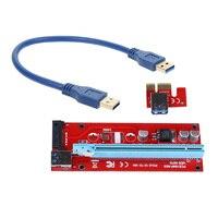 NI5L PCIe PCI E PCI Express Riser Card 1x To 16x USB 3 0 Data Cable