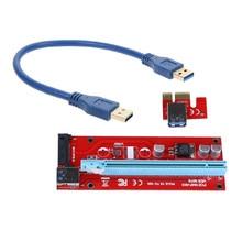 PCIe PCI-E PCI Express 1x до 16x Riser Card USB 3.0 Данных SATA кабель для 4pin IDE Molex Питания 30 см/60 см для BTC, LTC, ETH