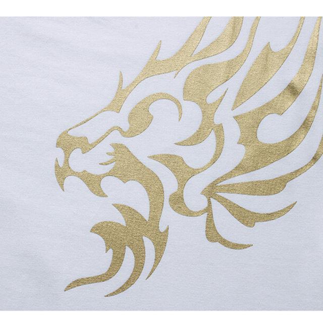 Men's Brand T-Shirt Fashion Slim Gold Dragon Printing T Shirt Plus Size Short-Sleeved Tee Shirt Men 5XL