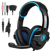 BEESCLOVER SA 708 GT Gaming Headset Headphone with Microphone for PS4 PC Laptop Computer Game Headphones r20