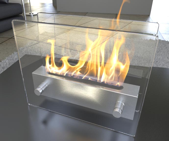 Bio Ethanol Fireplace FD47 Top Table Model