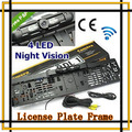 Carro à prova de água europa moldura placa retrovisor Camera W / 4 LED Night Vision da matrícula europeia, Frete grátis