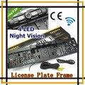 Impermeable del coche europa marco de la matrícula cámara de vista trasera W / 4 LED de visión nocturna de la matrícula europea, envío gratis