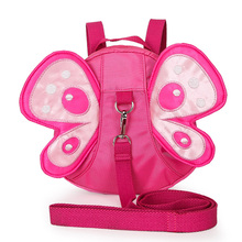 Kids Anti-lost Butterfly Shape Mini Plush Backpacks With Long Belt Baby Toddler Safety Harness Strap Backpack  Shoulder Bag P15