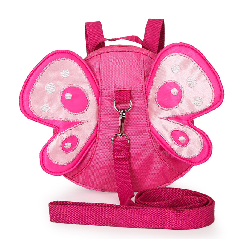 Kids Anti-lost Butterfly Shape Mini Plush <font><b>Backpacks</b></font> With Long Belt Baby Toddler Safety Harness Strap <font><b>Backpack</b></font> Shoulder Bag P15